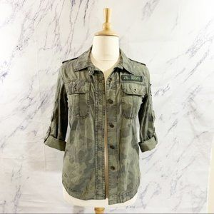 26 Intl Utility Army Jacket Roll Up Sleeves M